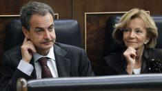 José Luis Rodríguez Zapatero y Elena Salgado en una foto de archivo. (Foto: EFE)
