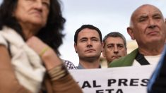 Hasier Arraiz, en un acto a favor del acercamiento de los presos etarras. (Foto: AFP)