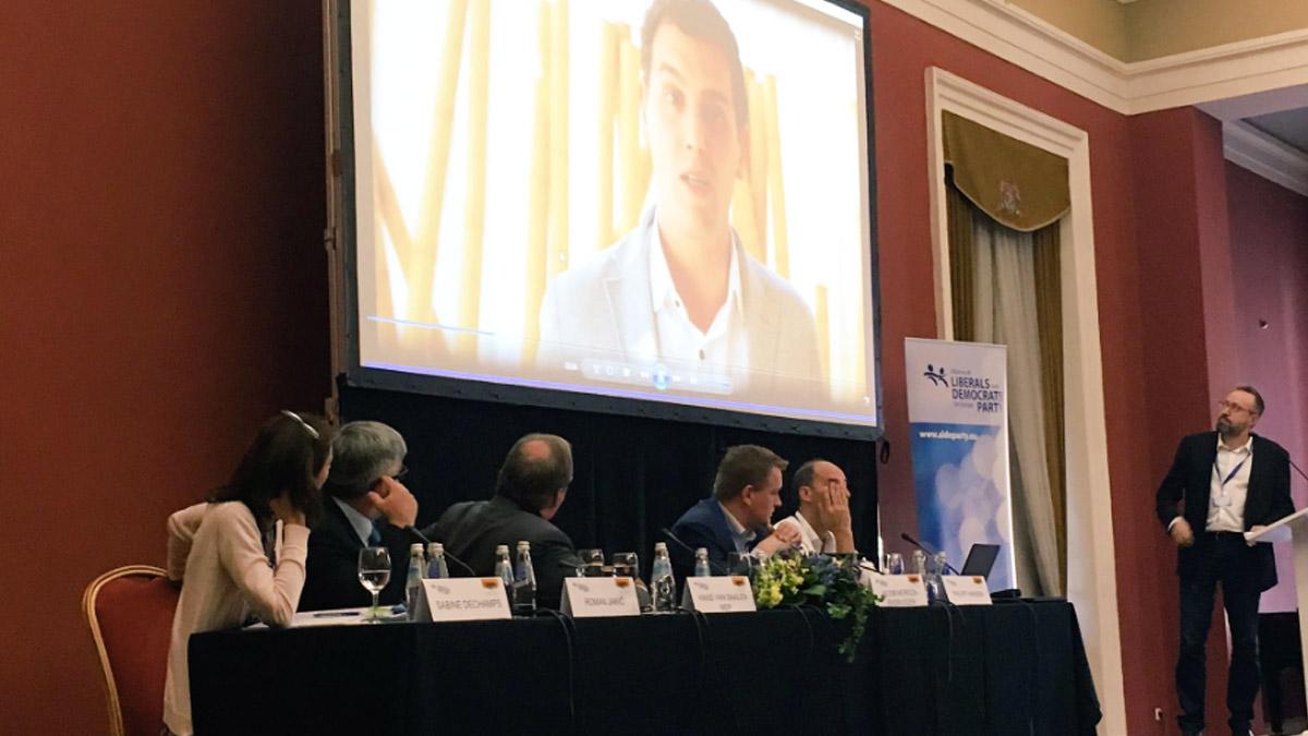 Discurso de Albert Rivera en la cumbre del ALDE (Twitter ALDE)