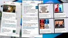 Mensajes enviados a los trolls de Podemos a través del canal de Telegram