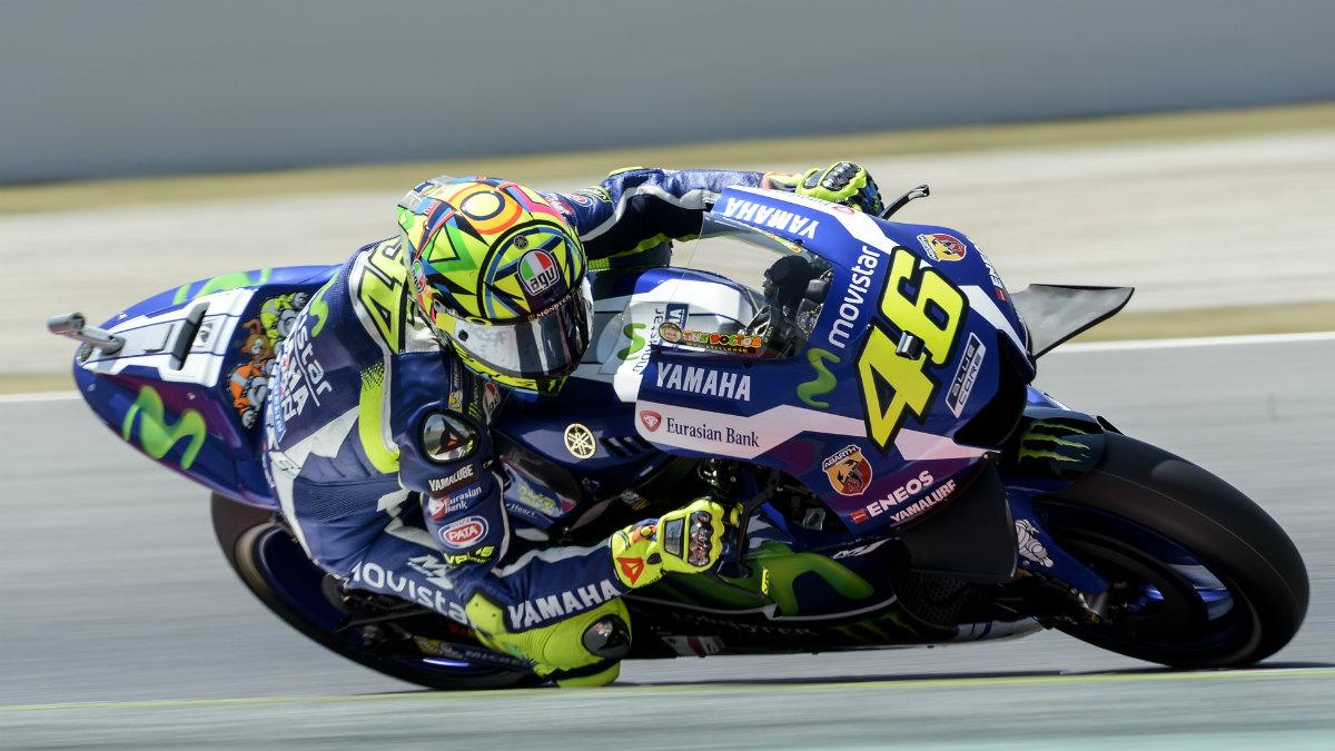Valentino Rossi ganó su segunda carrera de la temporada en España. (AFP)