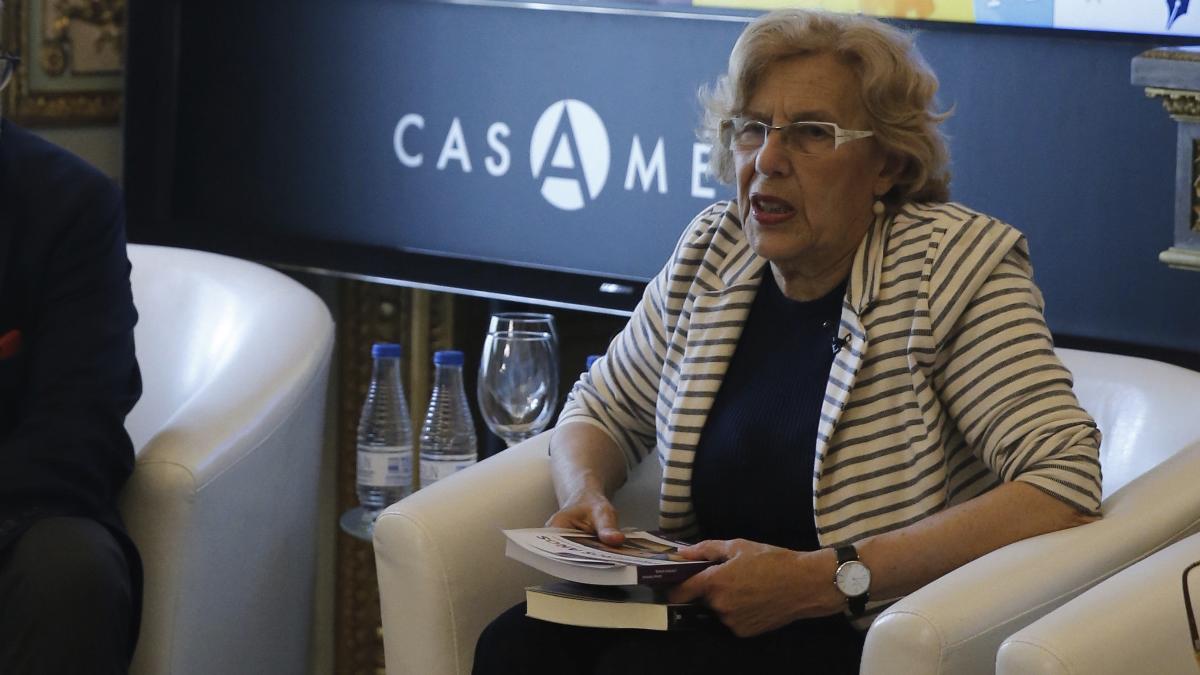 La exjueza Manuela Carmena, en Casa América. (Foto: Madrid)