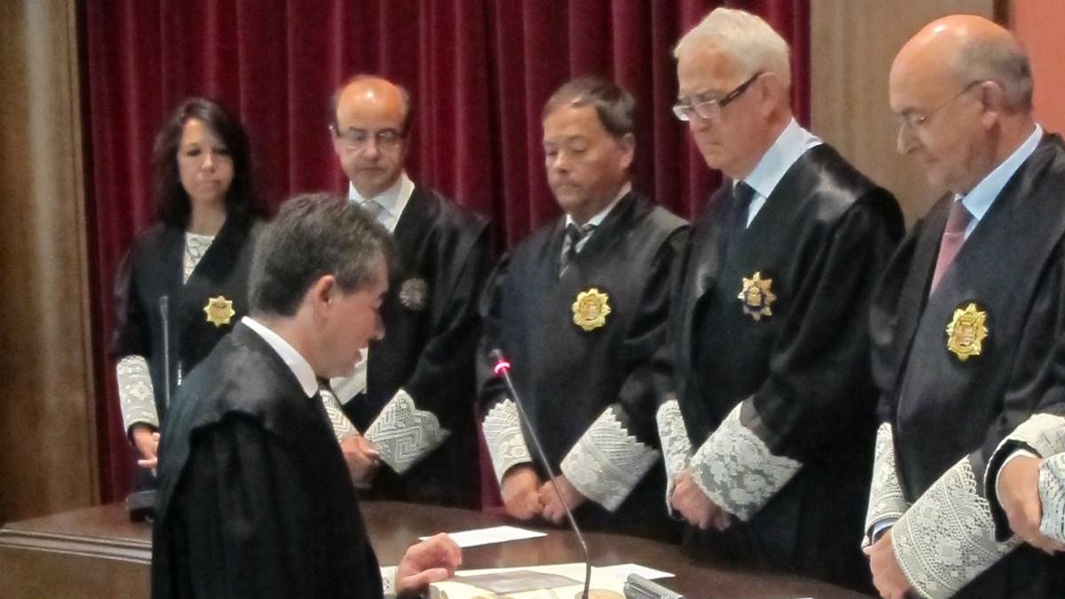 Toma de posesión de Joan Manel Abril como magistrado del TSJC. (Poder Judicial)
