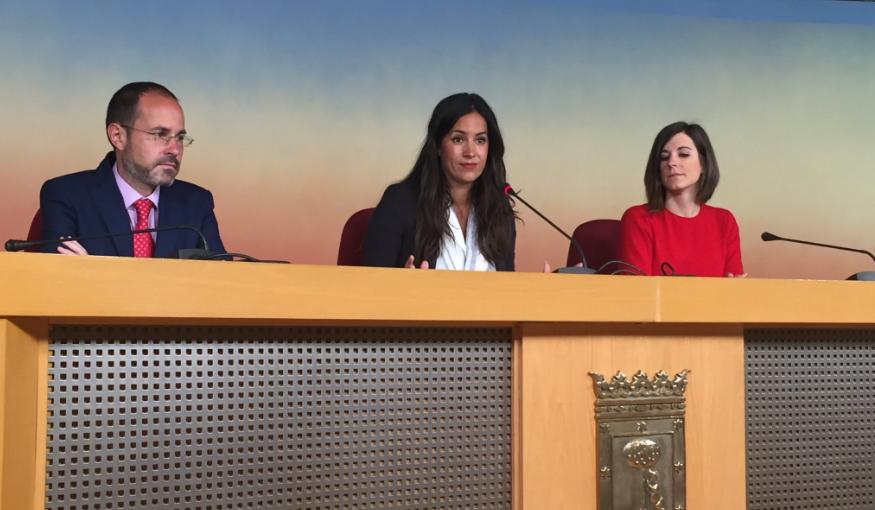 Begoña Villacís en rueda de prensa. (Foto: Madrid)