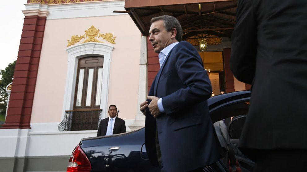 José Luis Rodríguez Zapatero durante su visita a Venezuela (Foto: AFP)