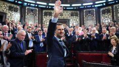 Bashar al Assad en el remozado parlamento de Damasco (Foto: Reuters)