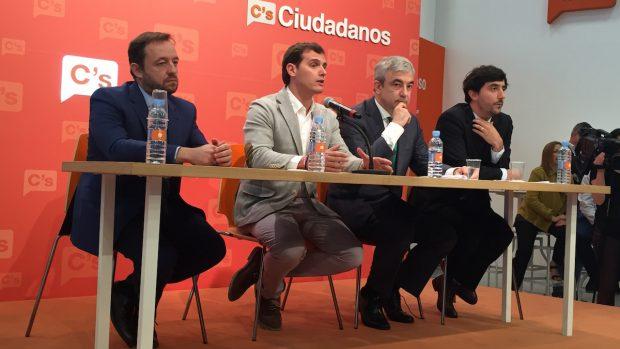 Francisco de la Torre, Albert Rivera, Luis Garicano y Antonio Bolaño