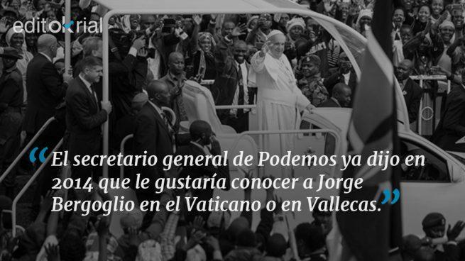 Iglesias quiere foto con el Papa