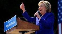 Hillary Clinton celebra su victoria en Los Ángeles, California. (Reuters)
