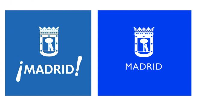 Antiguo y nuevo logo del Ayuntamiento de Madrid.