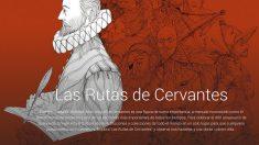Aspecto del espacio dedicado por Google a 'Las Rutas de Cervantes'.