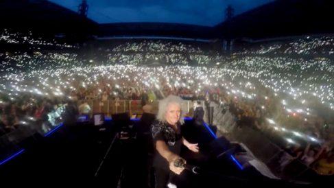 Brian May, en un reciente concierto de Queen. (Brian May)