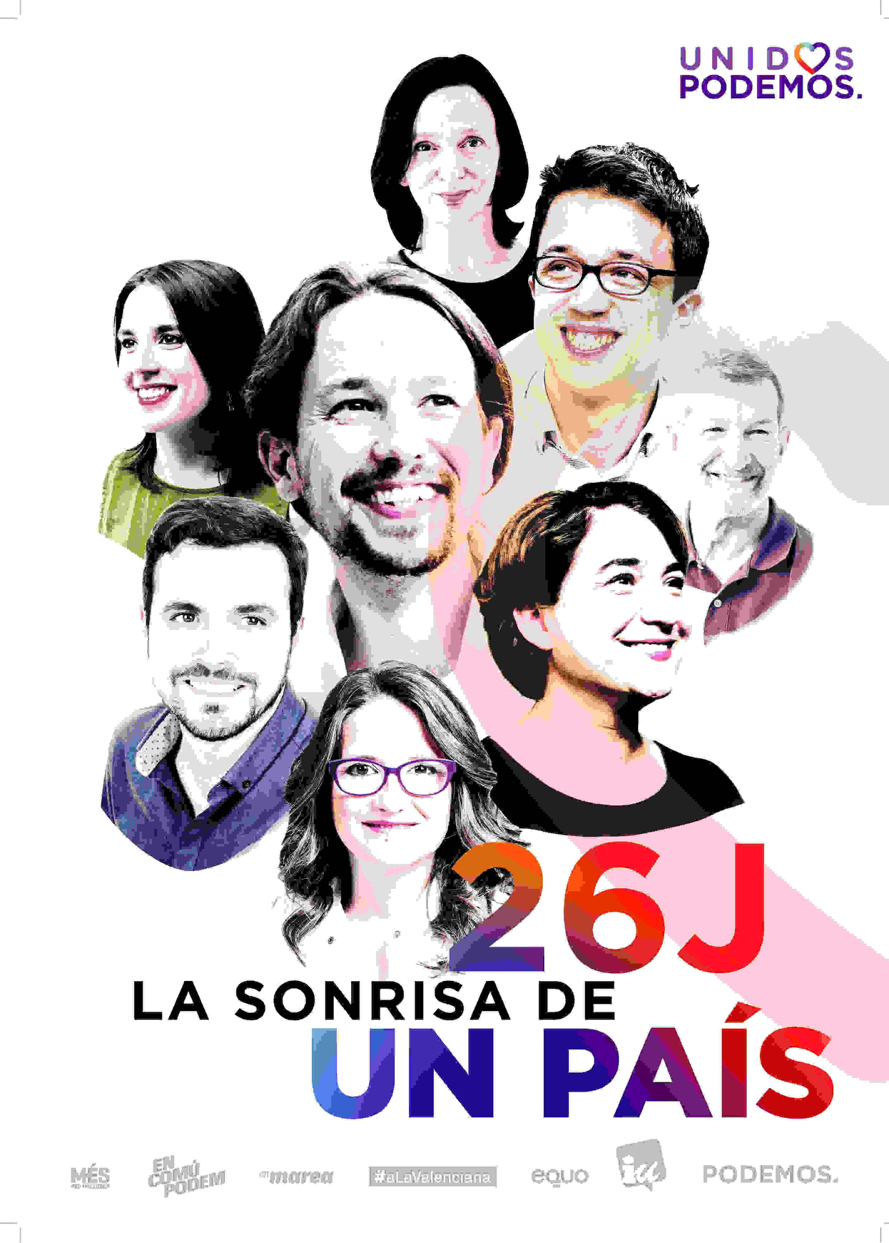 Cartel electoral de Unidos Podemos.