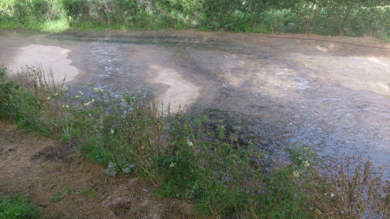 Estado actual de las aguas residuales en El Retiro que Carmena no arregla.