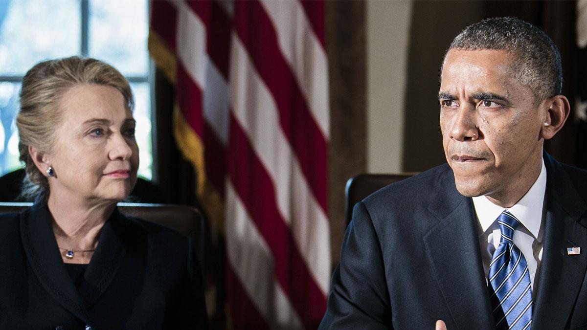 Hillary Clinton junto a Barack Obama. (Foto: Getty)