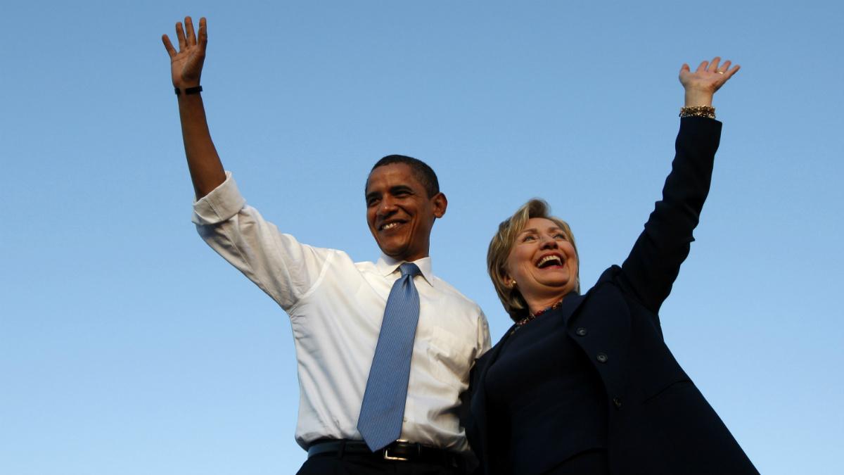 Barack Obama y Hillary Clinton, en la campaña de 2008 en Ohio. (Reuters)