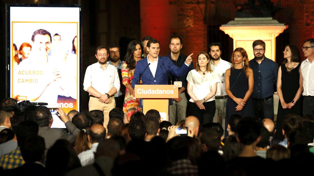 Albert Rivera en el acto de arranque de campaña de Ciudadanos (Foto: Efe).