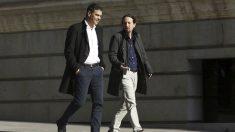 Pedro Sánchez y Pablo Iglesias (Foto: EFE)