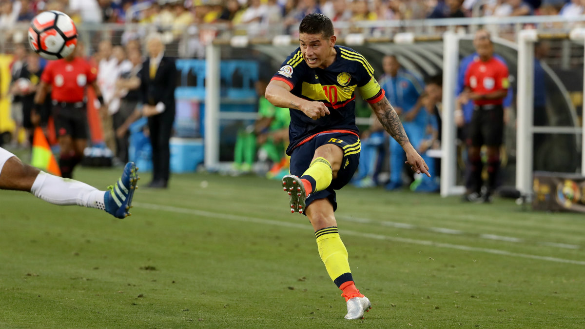 Colombia vs Costa Rica: James Rodríguez está en su mejor momento de los últimos meses. (Getty)