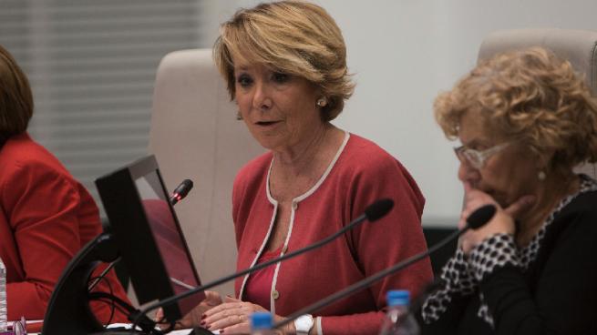 """Esperanza Aguirre: """"Carmena no se ocupa de los desfavorecidos, pero sí de los okupas"""""""