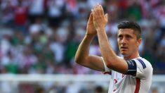 Lewandowski no marcó a Irlanda del Norte. (AFP)