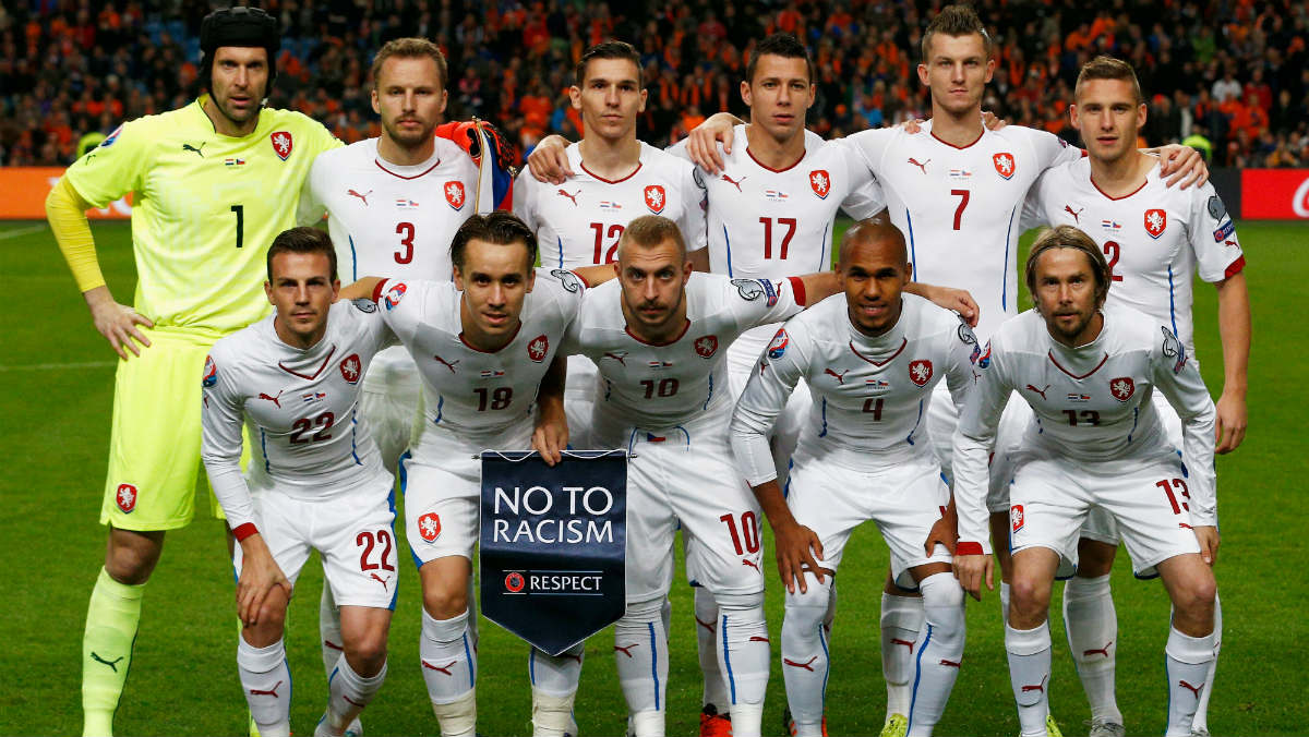 El once titular de la República Checa contra Holanda. (Getty)