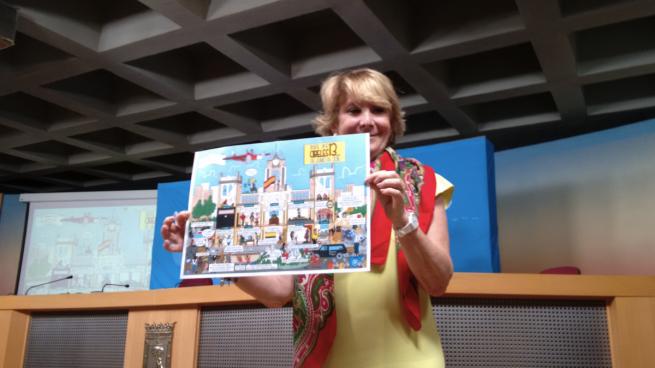 Aguirre desvela su cómic '13 Rue de Cibeles' caricaturizando a los concejales de Carmena