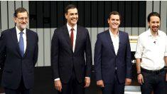 Los candidaos a la Presidencia del Gobierno en el Debate a 4 (FOTO: EFE)