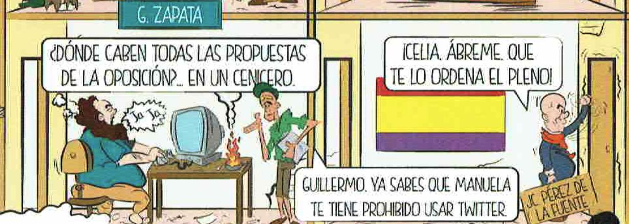 Guillermo Zapata con sus tuits sobre ceniceros. (Foto: OKDIARIO)