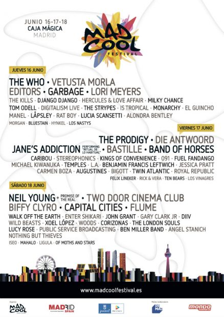 El cartel del festival ofrece música para todos los gustos y edades.
