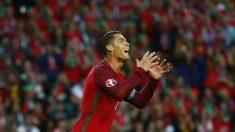 Cristiano Ronaldo se lamenta tras fallar una ocasión. (Reuters)