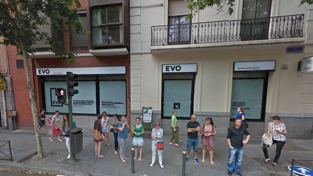 Oficina de Evo Banco en Madrid (Foto: GOOGLE STREET VIEW).