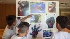 Algunas de las obras presentadas por los escolares. (Foto: EFE)