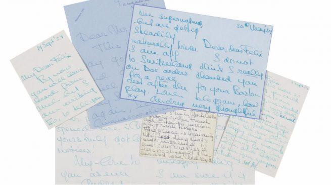 Subastan una colección de cartas de Audrey Hepburn en «su época más dramática»