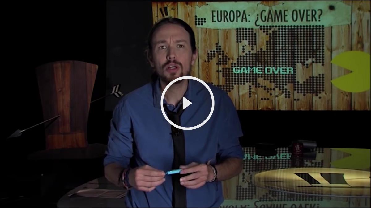 Pablo Iglesias defendiendo la salida de Europa