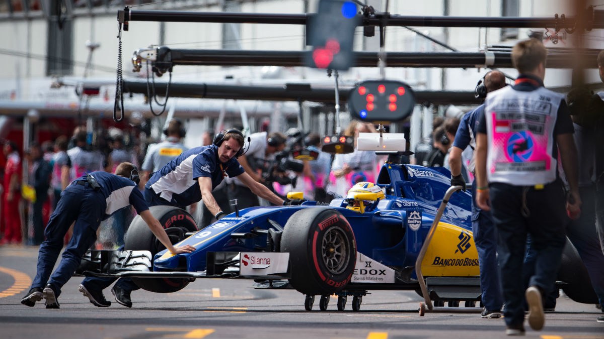 El box del equipo Sauber de Fórmula 1. (AFP)
