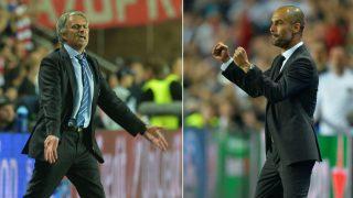 Mourinho y Guardiola se enfrentarán el 10S. (AFP)