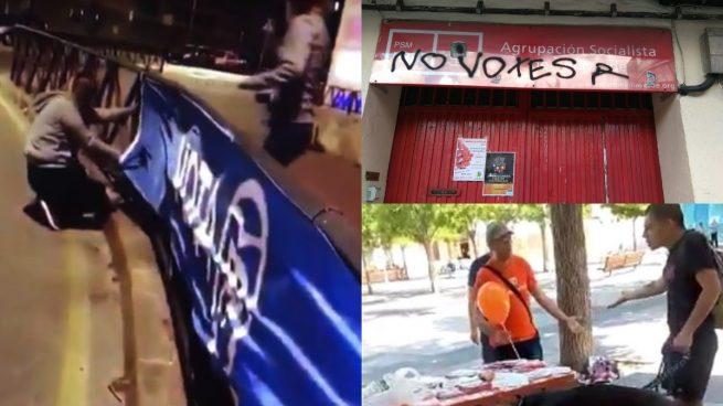 Repunte de la violencia en campaña: PP y PSOE sufren como C's los ataques de la izquierda radical