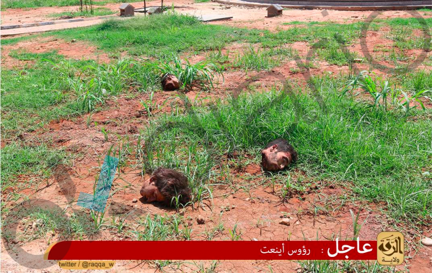 Cabezas cortadas en una de las fotografías del perfil de Alhsnmhmad.