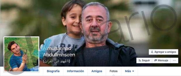 Imagen del perfil de Almuhannad Abdullmhseen, en la que se ve a Mohsen con el pequeño Zaid.