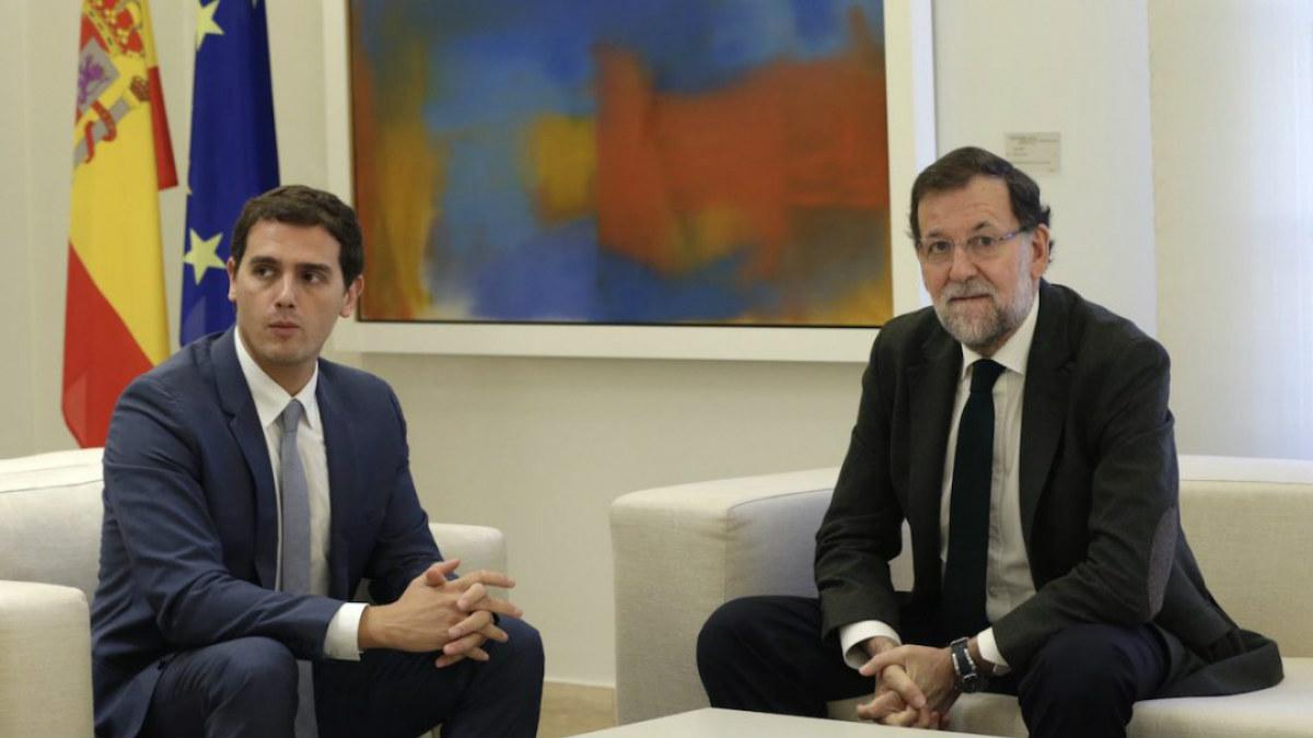 Albert Rivera y Mariano Rajoy (Foto:EFE)