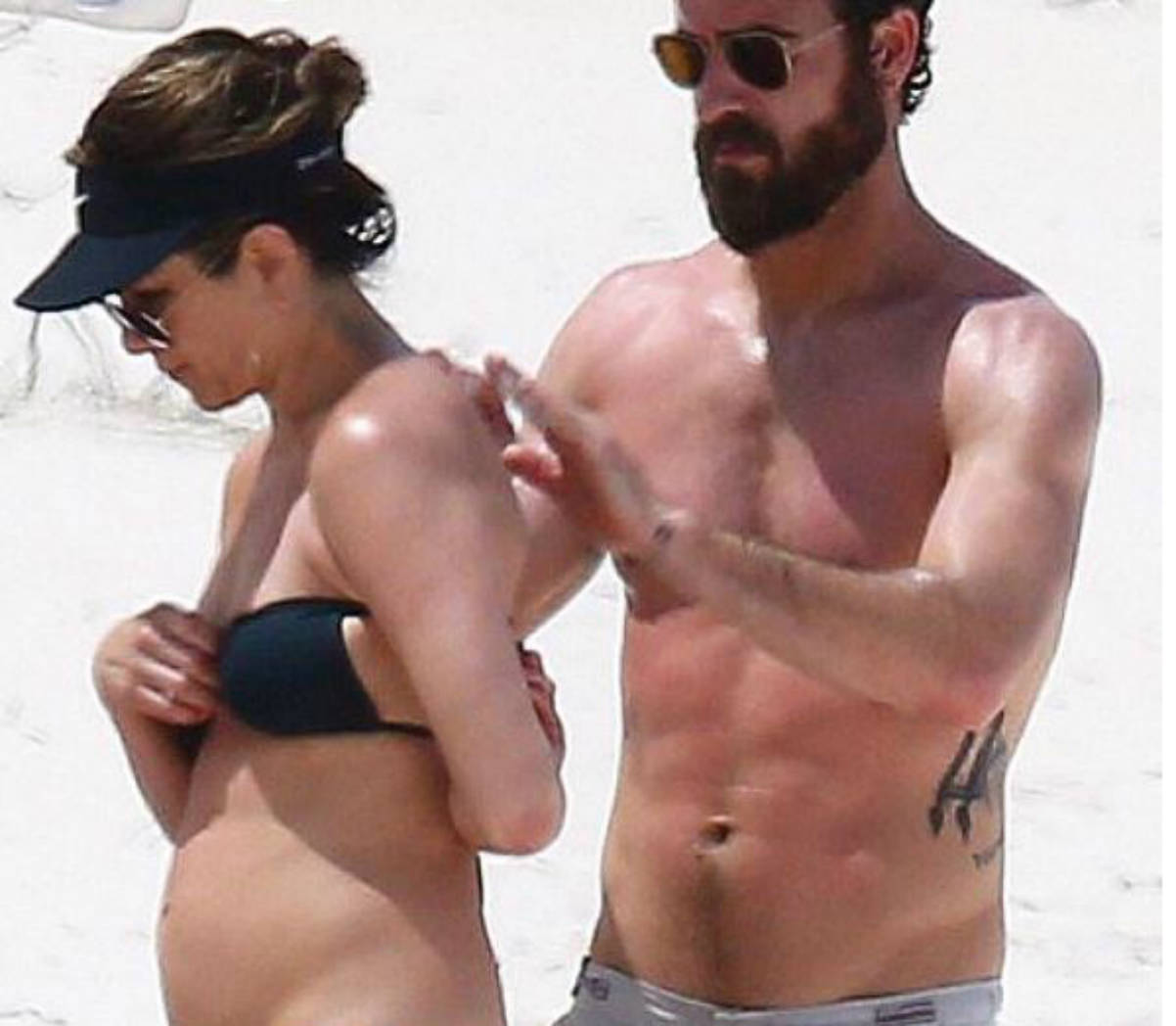 Jennifer Aniston y  Justin Theroux (Instagram)