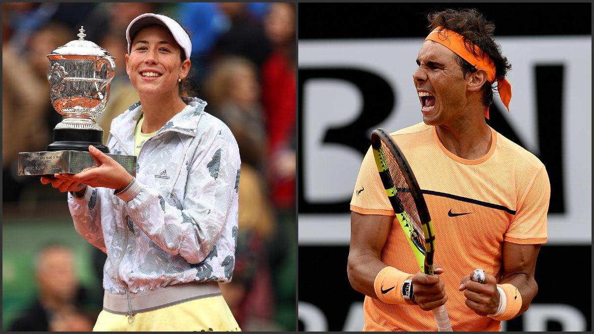 Garbiñe Muguruza y Rafa Nadal, jugarán juntos en Río 2016. (Getty)