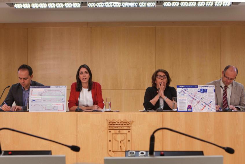 Rueda de prensa de Rita Maestre con los concejales de Urbanismo y Medio Ambiente. (Foto: Madrid)