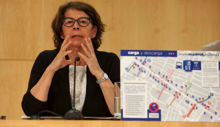 Inés Sabanés en rueda de prensa con el Plan de Movilidad para las obras en Metro Madrid. (Foto: Madrid)
