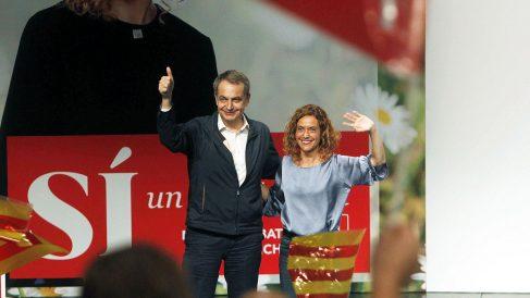José Luis Rodríguez Zapatero junto a Meritxell Batet. (Foto: EFE)