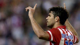 Diego Costa celebra un gol con el Atlético. (AFP)