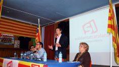 El independentista López Bofill en un acto de Solidaritat Catalana.