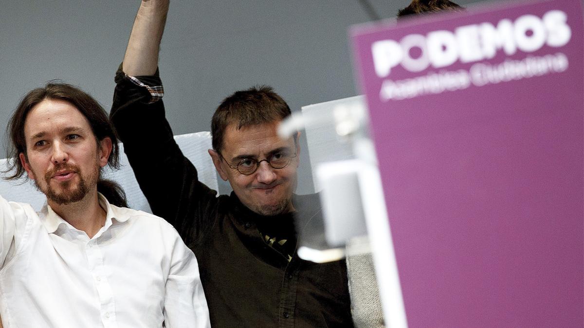 Pablo Iglesias y Juan Carlos Monedero. (Foto: Getty)