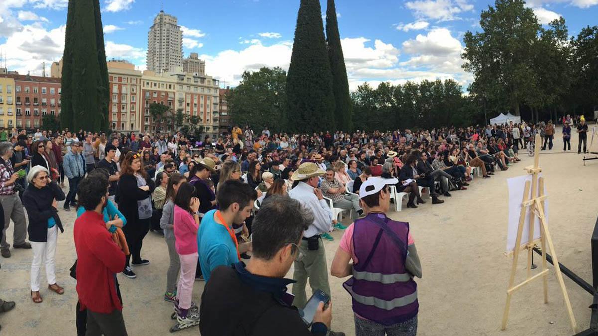 Acto de Podemos en Madrid boicoteado por Hogar Social Madrid.